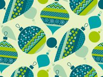 Luxury xmas bauble seamless pattern Stock Photos