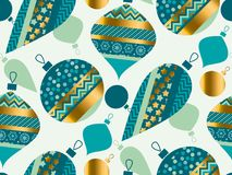 Luxury xmas bauble seamless pattern vector illustration. Concept Stock Photography