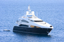 Luxury yacht. In the sea Royalty Free Stock Photography