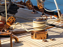 Luxury Yacht. Detail close uo Stock Photography
