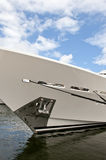 Luxury Yacht. The bow and anchor of a large luxury yacht Royalty Free Stock Image
