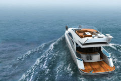Luxury Yacht royalty free illustration