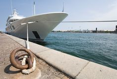 Luxury Yacht. Yacht moored at Copenhagen harbour stock images