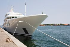 Luxury Yacht. Moored at Copenhagen harbour royalty free stock image