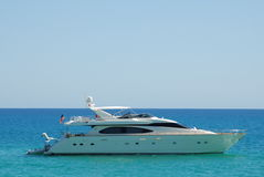 Luxury Yacht 4. Luxury Yacht in turquoise water Stock Photo