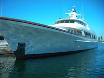 Luxury Yacht. Image of a luxurious yacht moored at a marina Royalty Free Stock Photo
