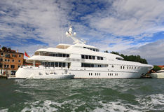 A luxury yacht royalty free stock images