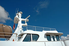 Luxury yacht. Standing at dock Stock Image