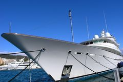 Luxury Yacht. Huge luxury yacht in the Marina in Mallorca Royalty Free Stock Photography