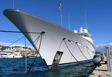 Luxury Yacht. Huge luxury yacht in the Marina in Mallorca Stock Photo
