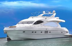 A Luxury Yacht Stock Photography