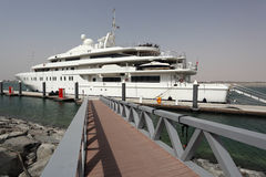 Luxury yacht in Abu Dhabi Royalty Free Stock Photography