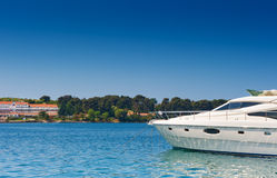 Luxury Yacht on Adriatic sea. Near Porech coast Royalty Free Stock Image