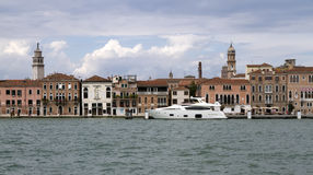 Luxury yacht in Venice. Italy Stock Photos