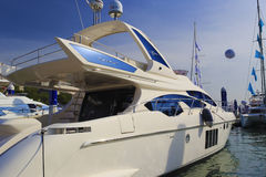 Luxury yacht azimut 64 Royalty Free Stock Images