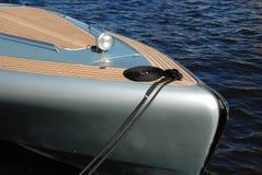 Luxury Yacht bow at dock Stock Photos