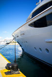 Luxury yacht bow Royalty Free Stock Photos