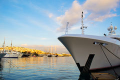 Luxury yacht bow Royalty Free Stock Photography