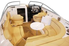 Luxury yacht cabin Stock Photo