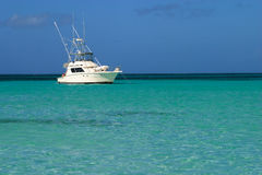 Luxury yacht, Caribbean sea. Royalty Free Stock Images