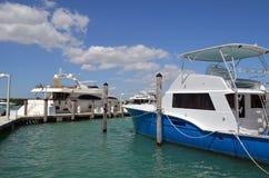 Luxury Yacht and Charter Deep Sea Fishing Boat Stock Photography