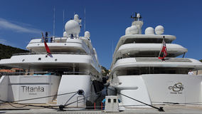 Luxury yacht charters Royalty Free Stock Images