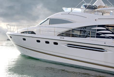 Luxury Yacht with Clipping Path