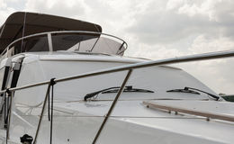 Luxury yacht closeup Stock Image