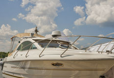 Luxury yacht closeup Royalty Free Stock Photo