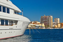 Luxury yacht in Zadar waterfront Stock Photography
