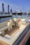 Luxury yacht corsair 25 rear view Stock Photos