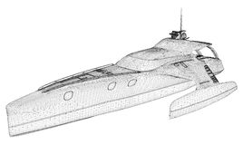 Luxury Yacht Cruise Ship Illustration Vector Royalty Free Stock Photo