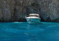Luxury yacht cruising Stock Photo