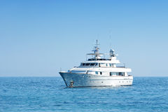 Luxury yacht cruising Stock Image