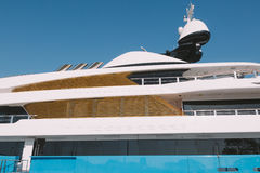 Luxury yacht detail Stock Images