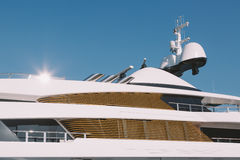Luxury yacht detail Royalty Free Stock Photography
