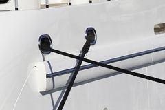 Luxury yacht detail, with strings Stock Photography