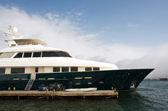 Luxury yacht at dock Royalty Free Stock Photography