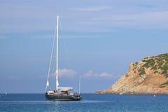 Luxury yacht docked Royalty Free Stock Photo