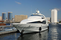 Luxury Yacht at Dubai Creek Royalty Free Stock Images