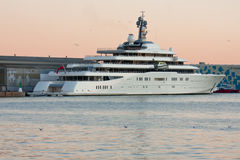 Luxury Yacht Eclipse Stock Photography