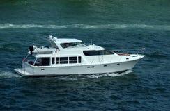 Luxury yacht on the Florida wayerways Royalty Free Stock Images