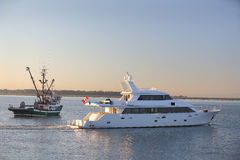 Luxury Yacht, Fraser River Stock Image