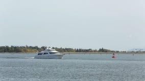 Luxury Yacht, Fraser River Stock Image