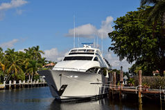 Luxury yacht front view stock image
