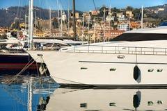 Luxury Yacht in the Harbor - La Spezia Royalty Free Stock Image