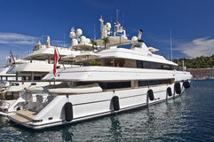 Luxury yacht in the harbor of Monaco Royalty Free Stock Photography
