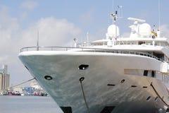 Luxury yacht at harbor Stock Photos