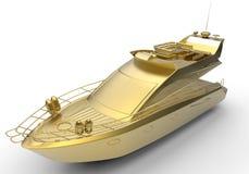 Luxury yacht illustration Stock Images