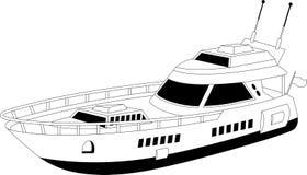Luxury yacht stock illustration